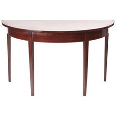 Quality George III Mahogany Demi-une Console Table