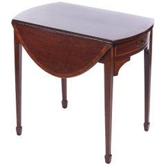 Georgianischer Mahagoni Pembroke Tisch mit Intarsien
