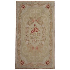 Quality Handmade Carpet Aubusson Style Large Area Flatweave Needlepoint Rug Sale