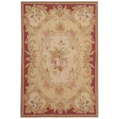Quality Handmade Rug, Floor Area Rug, Aubusson Rugs, Flat-Weave Needlepoint