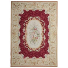 Quality Handmade Rug, French Aubusson Style Rugs for Sale Flat-Weave Needlepoint