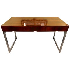 Quality Mid-Century Modern Rosewood Desk on Chrome Base
