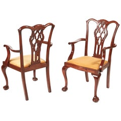 Quality Pair of Antique Mahogany Desk Chairs