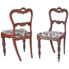 Quality Pair of Antique William IV Carved Hardwood Side/Desk Chairs, circa 1830