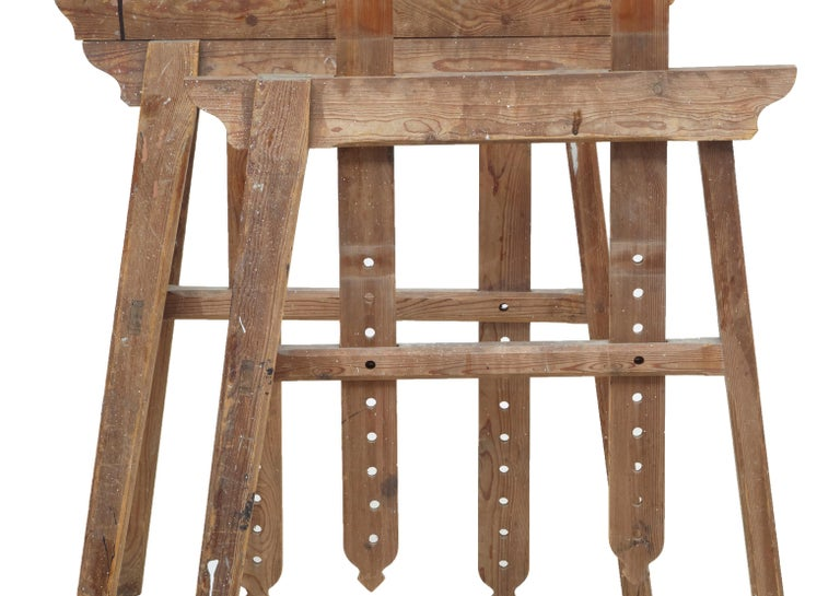 Swedish Quality Pair of Early 20th Century Trestle Table Bases For Sale
