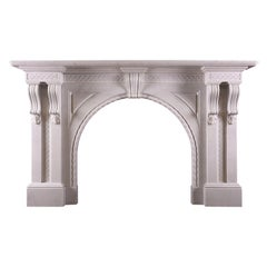 Quality Period Victorian Fireplace in Italian Statuary Marble
