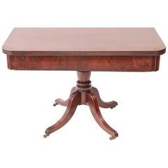 Quality Regency Mahogany Tea / Dining Table