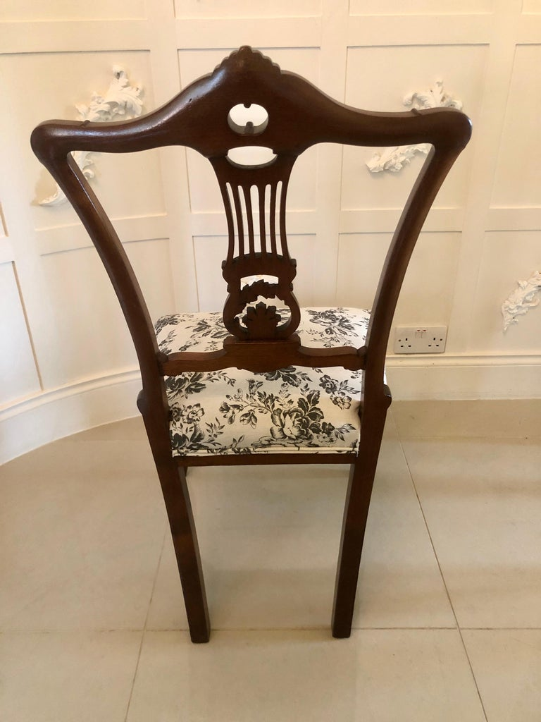 Quality Set of Four 19th Century Antique Mahogany Victorian Dining Chairs For Sale 4