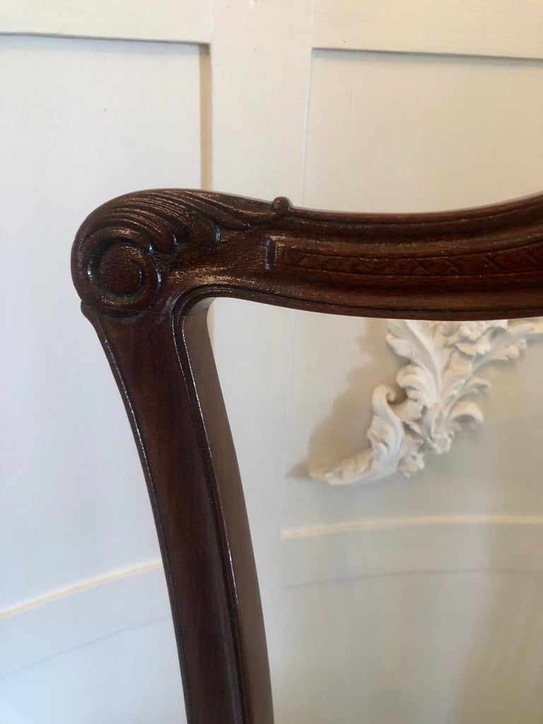 Early Victorian Quality Set of Four 19th Century Antique Mahogany Victorian Dining Chairs For Sale