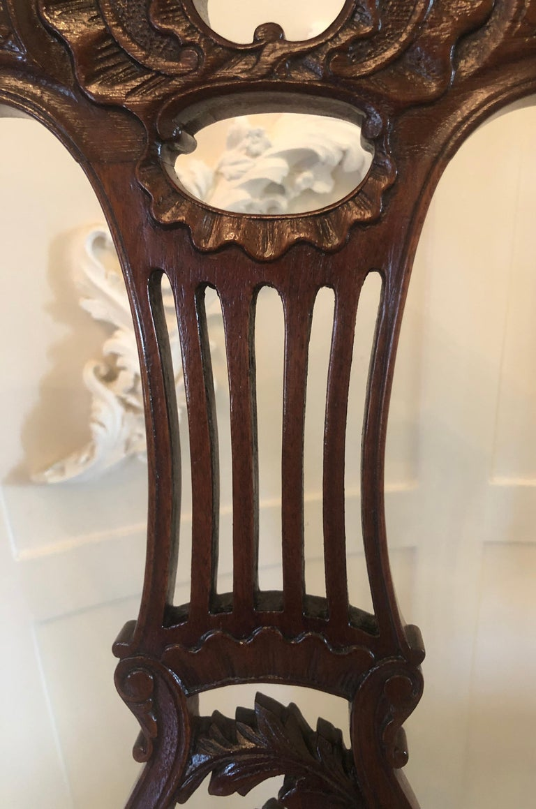 English Quality Set of Four 19th Century Antique Mahogany Victorian Dining Chairs For Sale