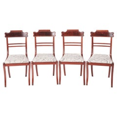 Quality Set of Four Regency Antique Mahogany Dining Chairs
