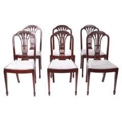 Quality Set of Six Antique Mahogany Dining Chairs