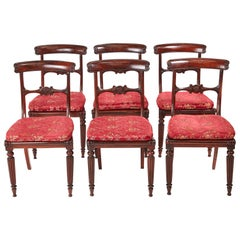 Quality Set of Six Antique William IV Rosewood Dining Chairs