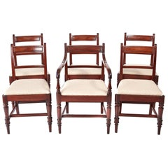 Quality Set of Six George III Mahogany Dining Chairs