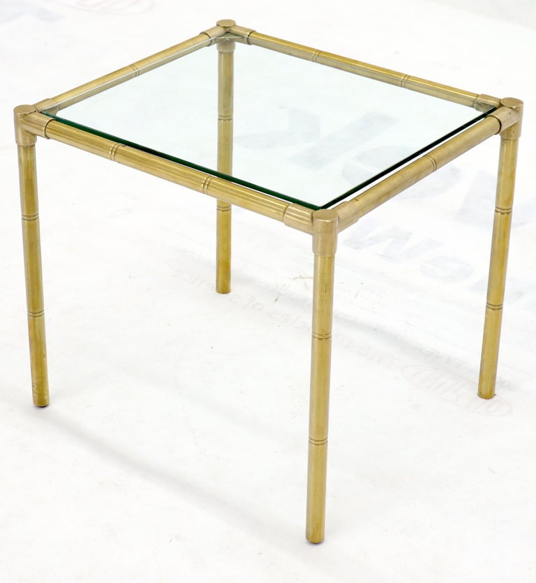 Quality Solid Brass Faux Bamboo Italian Mid Modern Nesting Tables For Sale 4