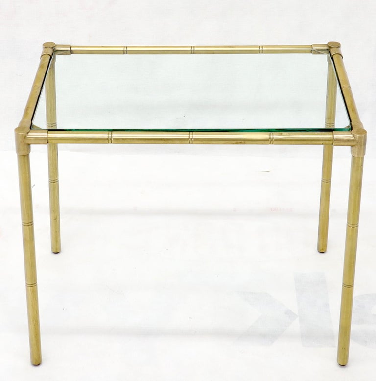 Quality Solid Brass Faux Bamboo Italian Mid Modern Nesting Tables For Sale 7