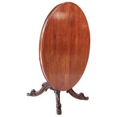 Quality Victorian Oval Mahogany Centre Table