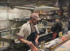 Bones Kitchen, Oil Painting