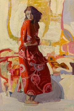 Crimson Pattern, Oil Painting
