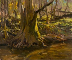 Exposed Roots, Oil Painting