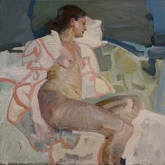 Seated Figure Abstraction, Oil Painting