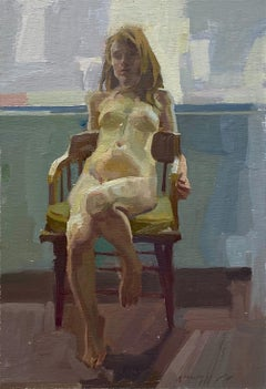 Seated, Oil Painting