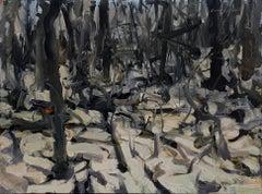 Wood Series I, Oil Painting