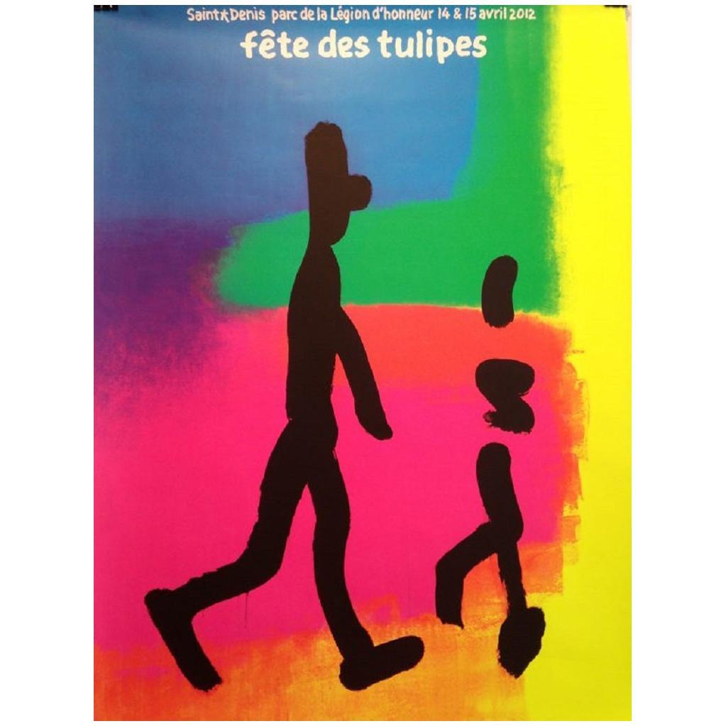 Quarez Tulip Festival Original Vintage Poster