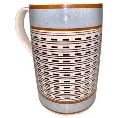 Quart Size Mochaware Mug England, circa 1820