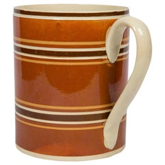 Quart Size Mochaware Mug Made in England, circa 1810