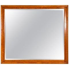 Quarter-Sawn Oak Framed Wall Mirror