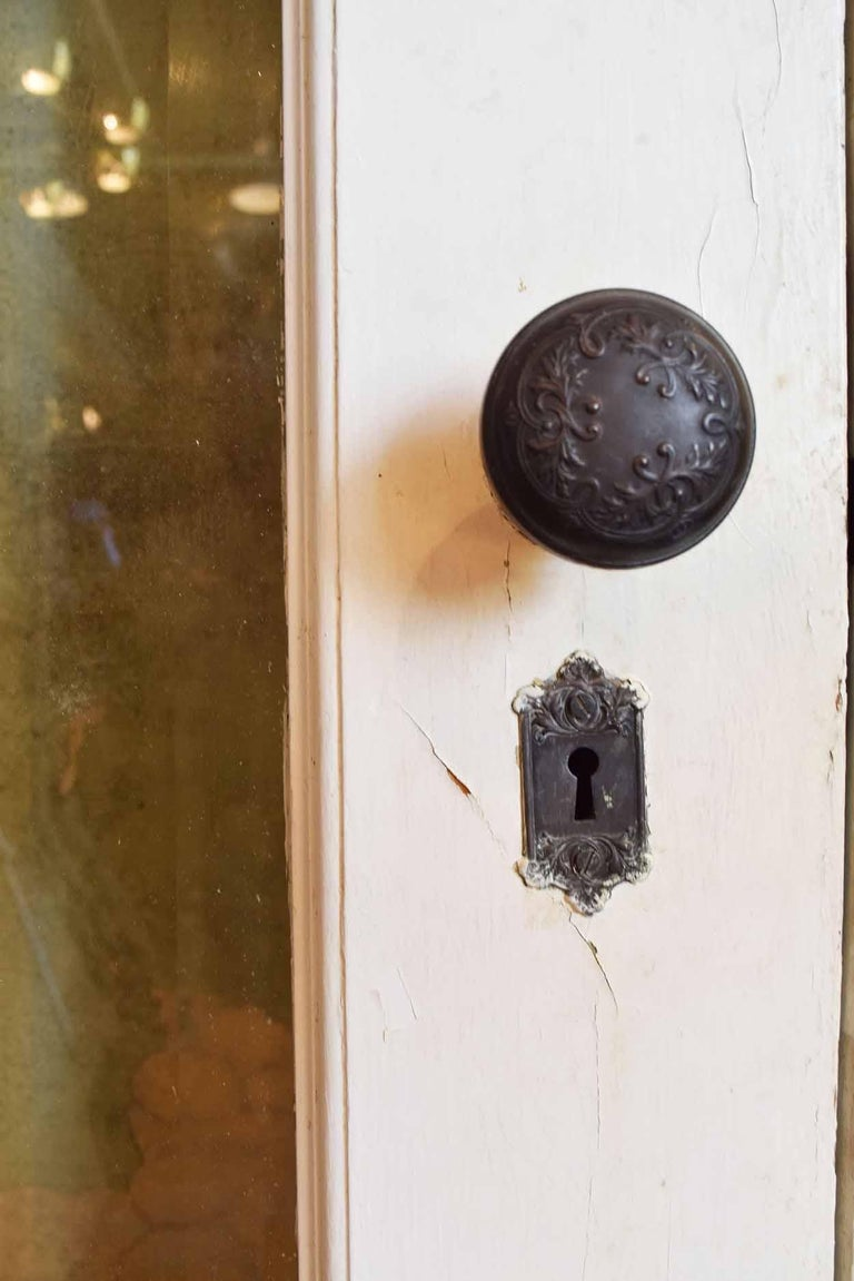 Early 20th Century Quartersawn Oak Victorian Exterior Doors with Transom For Sale