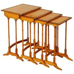 Quartetto Nest of 18th Century Satinwood Tables