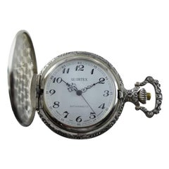 Quartex Hunters Case Pocket Watch, circa 1980s