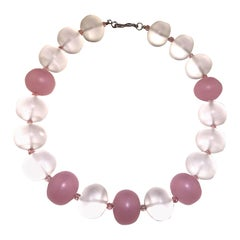 Quartz Crystal and Rose Quartz Chunky Necklace