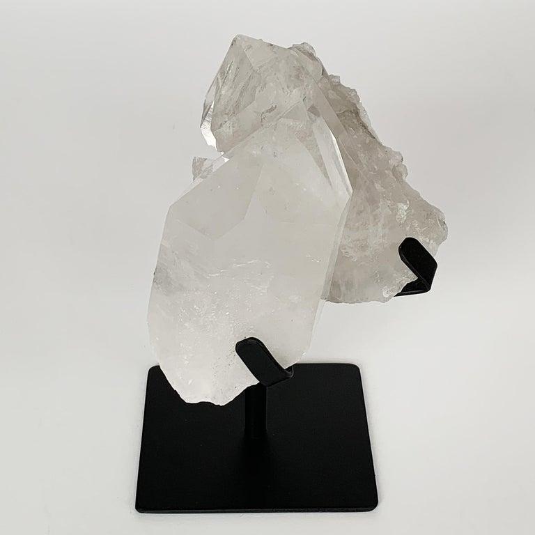 Mid-Century Modern Quartz Crystal Mounted Mineral Specimen