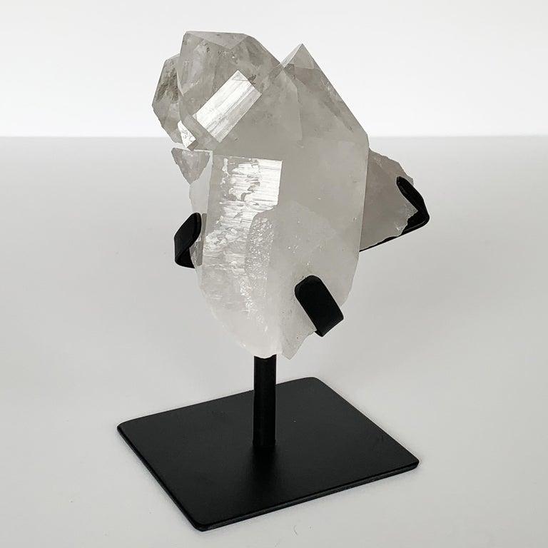 Contemporary Quartz Crystal Mounted Mineral Specimen