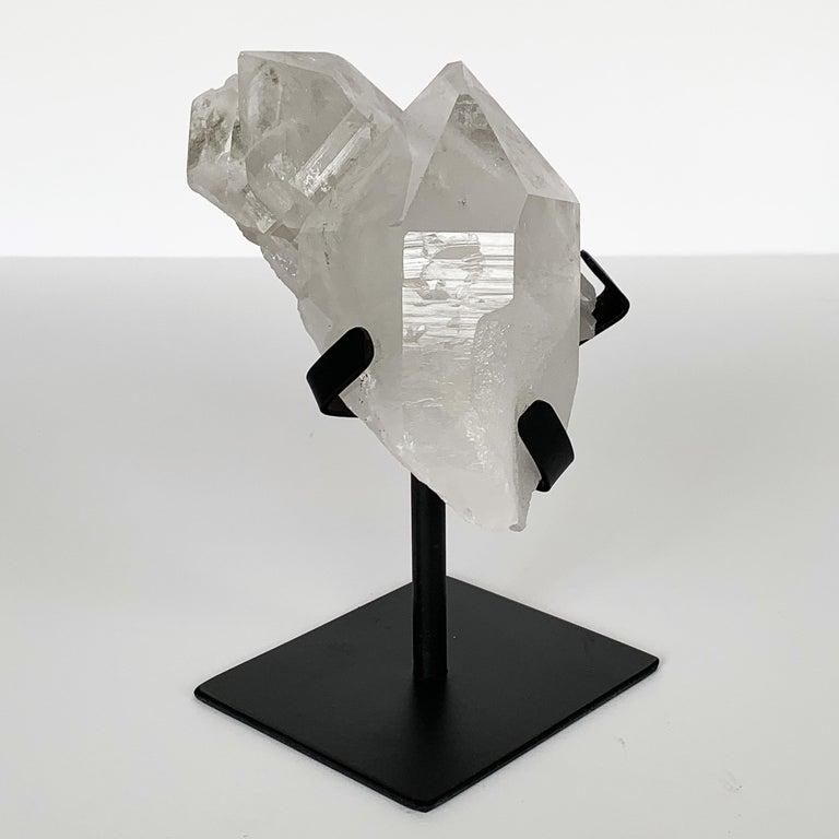 Metal Quartz Crystal Mounted Mineral Specimen