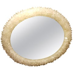 Quartz Crystal Round Mirror