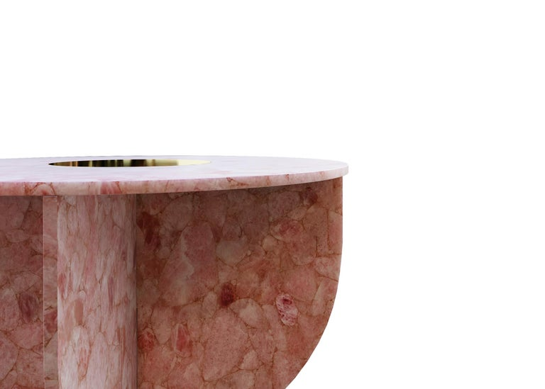 Contemporary Quartz Elizabeth Love Table Handsculpted by ELEMENT&CO For Sale