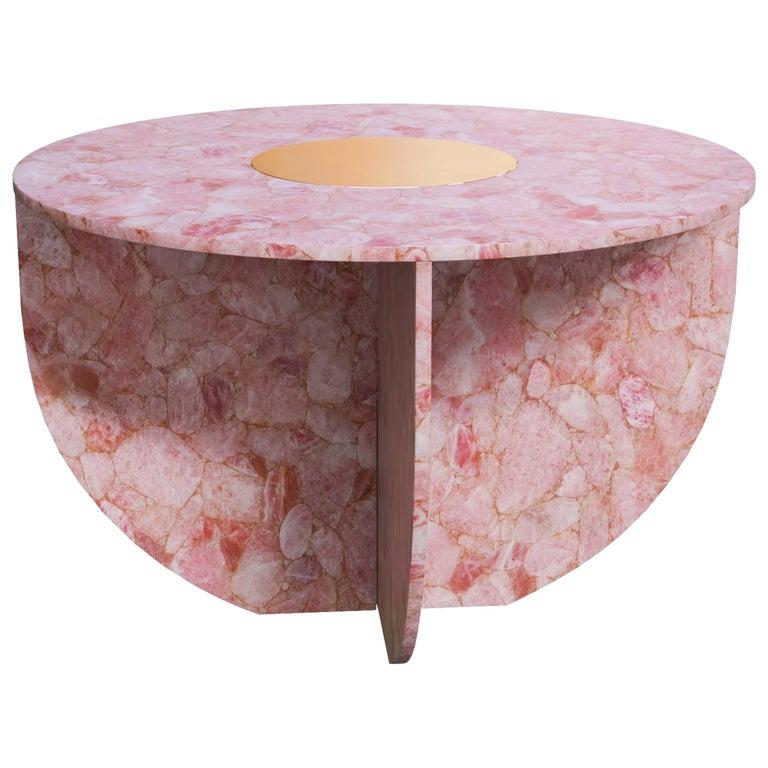 Quartz Elizabeth Love Table Handsculpted by ELEMENT&CO For Sale