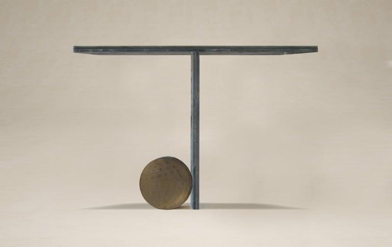 Modern Quartzite Sculptural O Console by dAM Atelier For Sale