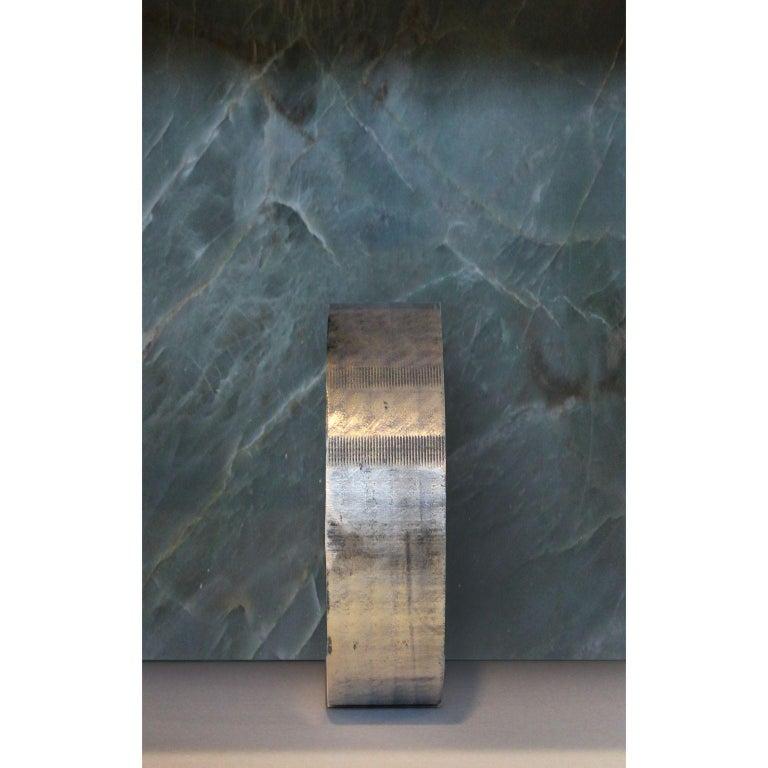 Italian Quartzite Sculptural O Console by dAM Atelier For Sale