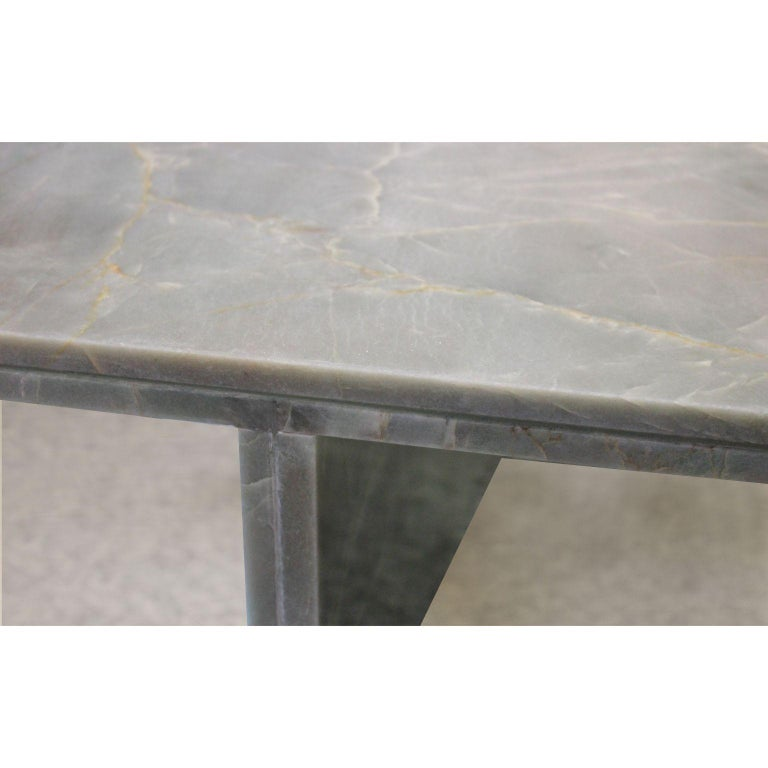 Quartzite Sculptural O Console by dAM Atelier In New Condition For Sale In Geneve, CH
