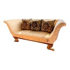 Quatrain Regency Style Giltwood & Mahogany Sofa, Dessin Fournir