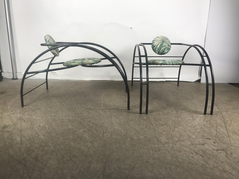Post-Modern Quebec 69 Spider Chairs, Les Amisco Memphis Style, Space Age For Sale