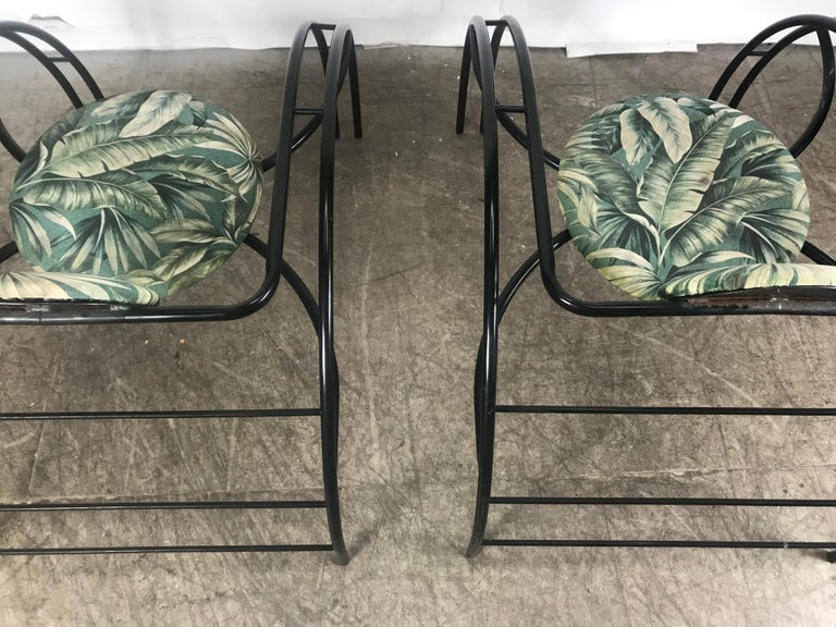 Metal Quebec 69 Spider Chairs, Les Amisco Memphis Style, Space Age For Sale