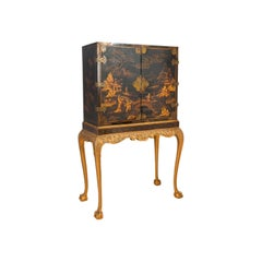 Queen Ann Style Lacquered Cabinet on Stand, circa 1900