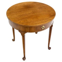 Queen Ann Walnut One Drawer Lamp Side Table Stand by Baker