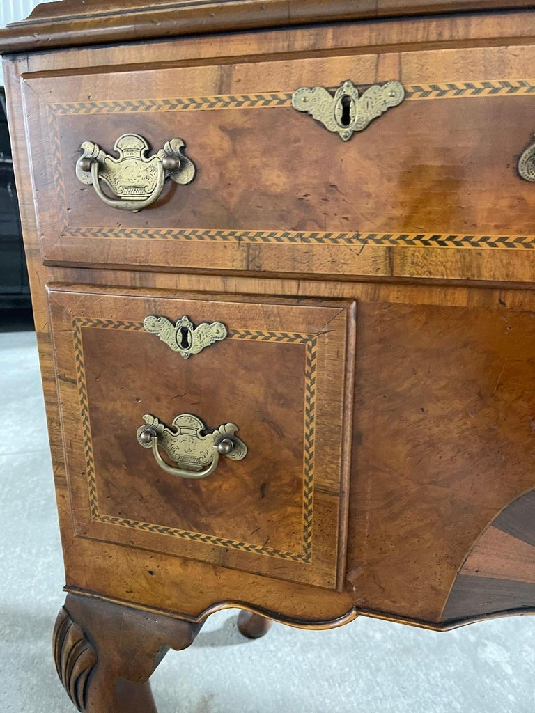 Queen Anne American Cherry Bonnet Top Highboy, 18th Century For Sale 13